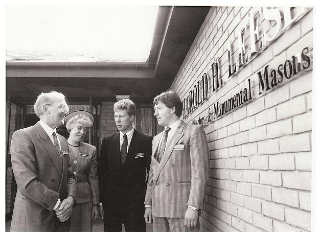 Albert, Ann, Nigel & Mark Boulton At The Official Opening